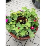 Prútený kvetináč s otvorom,  Ø 30cm