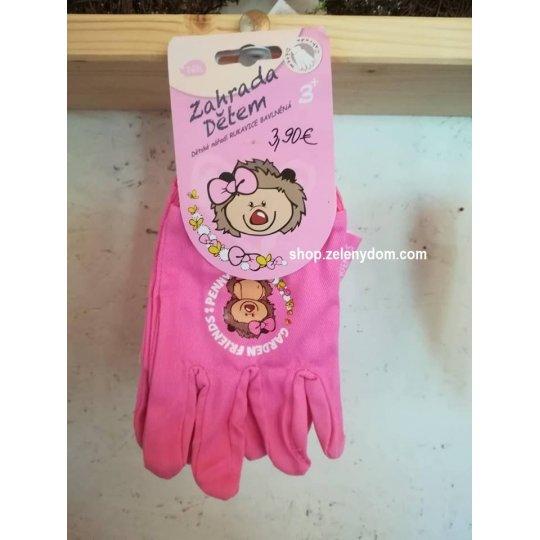 Detské záhradné rukavice, ružové