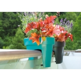 Kvetináč balkónový 12,3 l, biela, LOFLY Railing