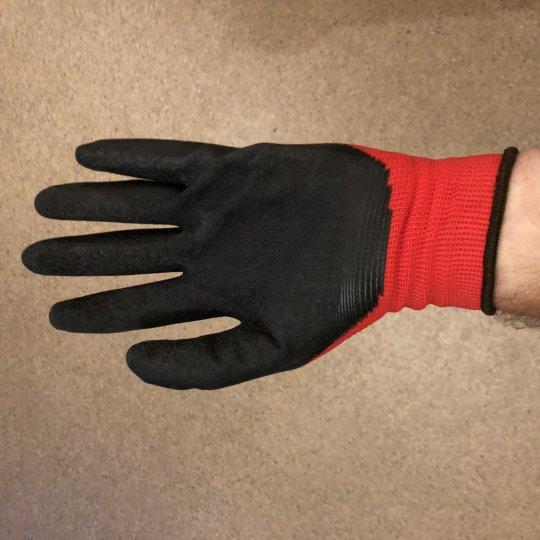 Záhradnícke rukavice, červené
