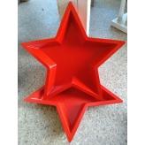 Drevený vianočný podnos, hviezda červená