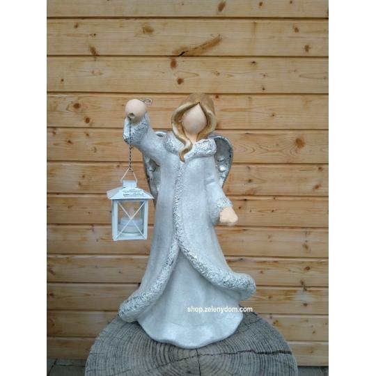 Vianočný Anjel s lampášikom 46cm