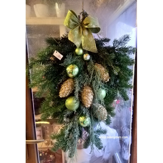 Vianočná výzdoba na dvere, veľkosť 60cm