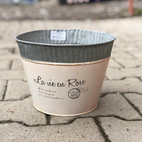 Kvetináč 'La vie en Rose' ružový, 16cm