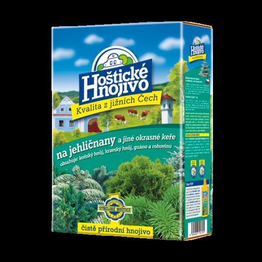 Prírodné hnojivo na ihličnany a okrasné dreviny, Hoštické hnojivo, 1kg