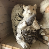 Veverička, zimná dekorácia