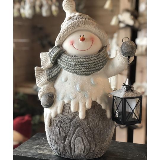Snehuliak s lampášikom
