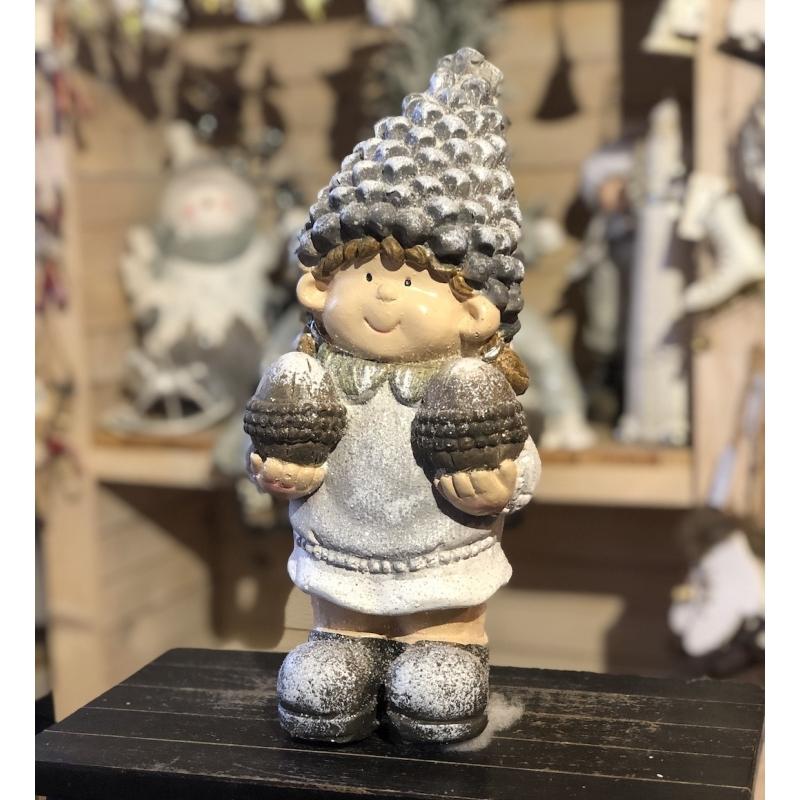 Dievčatko, zimná dekorácia