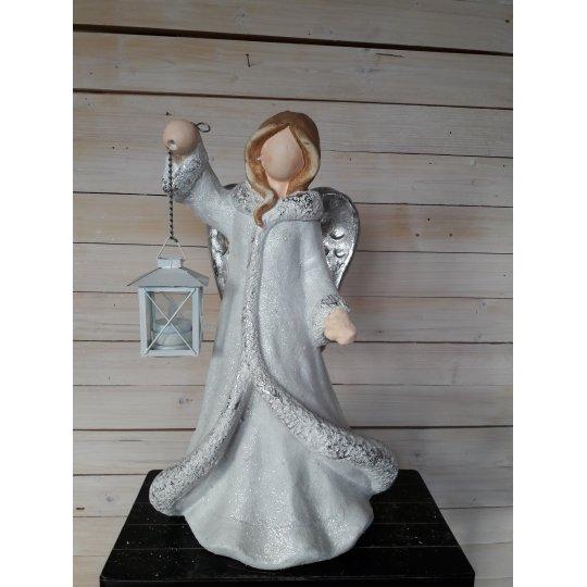 ANJEL vianočný s lampášikom, 40 cm