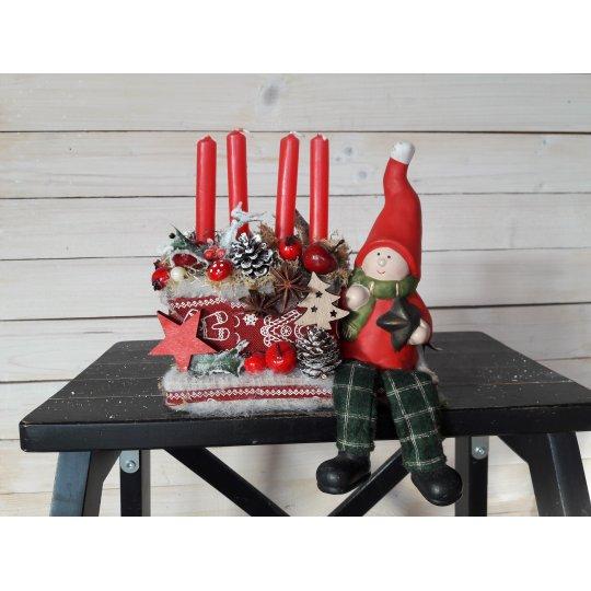 SVIETNIK vianočný, na 4 sviečky