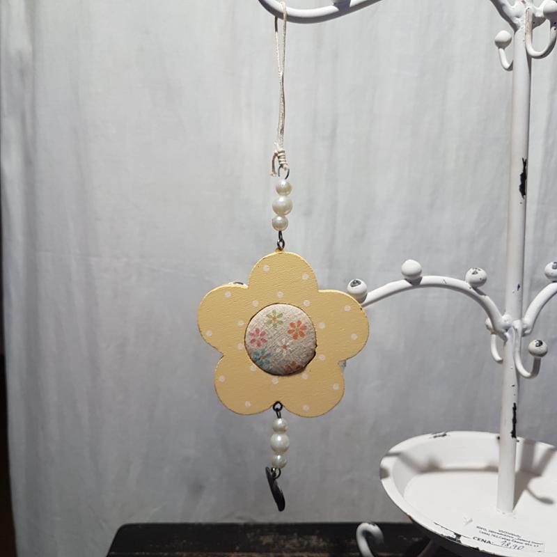 KVIETOK žltý, závesná dekorácia