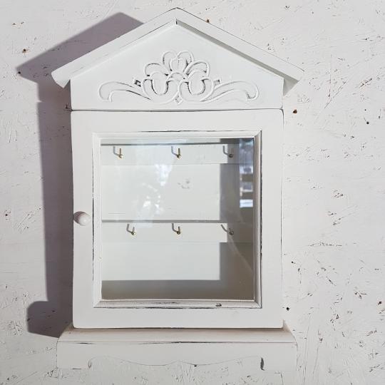 DRŽIAK na kľúče DOMČEK, so sklom, 22x34 cm