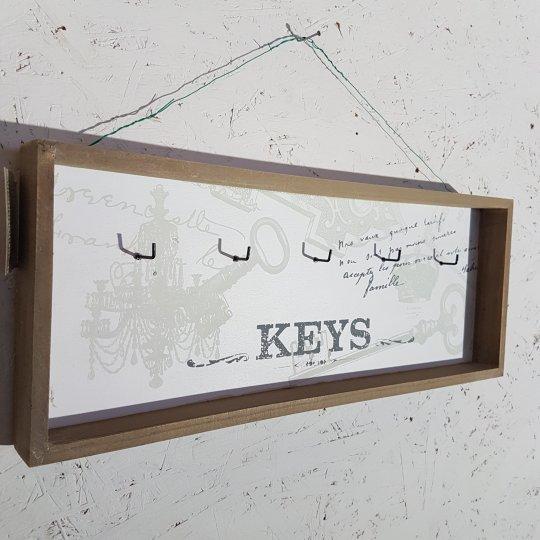 DRŽIAK na kľúče, drevený, 16x45 cm