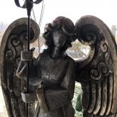 Vianočný Anjel  so svietnikom 90cm