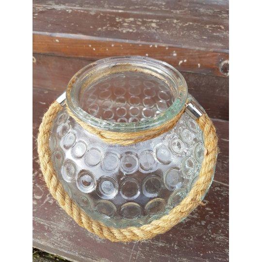 LAMPÁŠ guľatý, sklenený, 17 cm