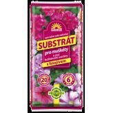FORESTINA - Substrát na muškáty a iné balkónové rastliny, s hnojivom, 20 l