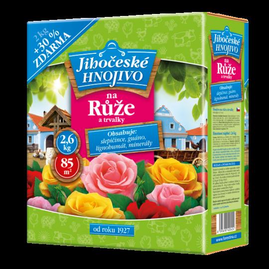 Juhočeské hnojivo - Hnojivo na ruže a trvalky, 2kg + 30% zdarma
