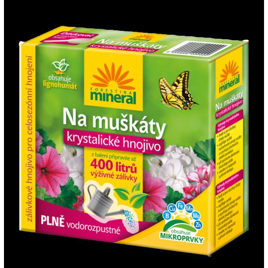 Hnojivo na muškáty Mineral - Krystal s lignohumátom, 400 g