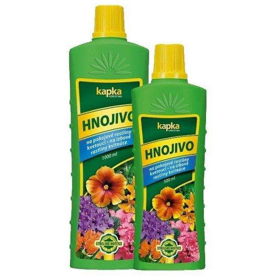 Hnojivo na izbové kvety kvitnúce - KAPKA, 500 ml
