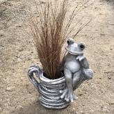 Žaba kvetináč - záhradná dekorácia