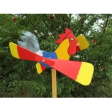 Kohút vrtuľka, Záhradná drevená dekorácia