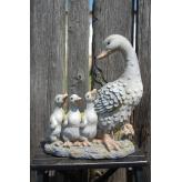 Kačica s káčatkami, dekorácia, 40 cm