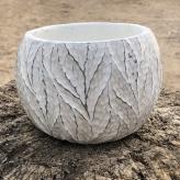 Kvetináč keramický, biely, Ø 10,5 cm
