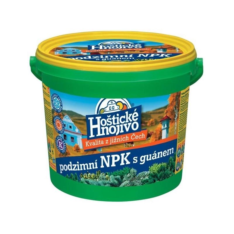 Hoštické hnojivo - Jesenné NPK s guánom, 4,5 kg vedierko