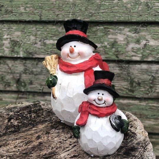 Drevený snehuliak s čiernym klobúkom, 11,5cm
