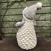 Snehuliak so svietiacou LED guľou v brušku, 51cm