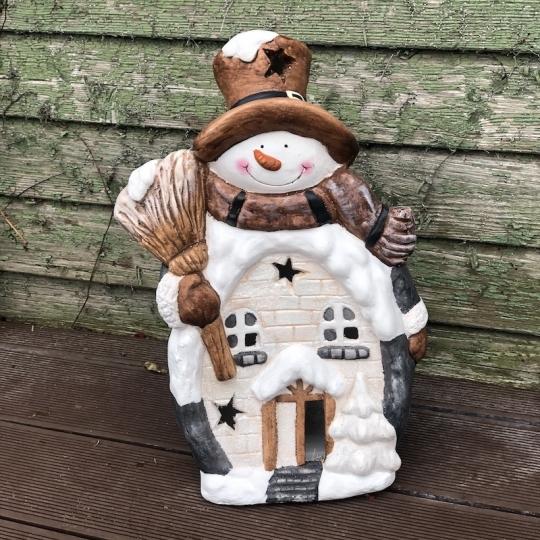 Snehuliak svietiaci domček LED, 44cm