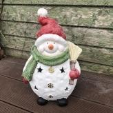 Bacuľatý snehuliak - LED svietnik, 40cm