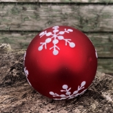 Sada ručne robených vianočných gúľ, 12ks