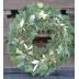 Vianočný veniec na dvere zo živej čečiny, priemer 70 cm