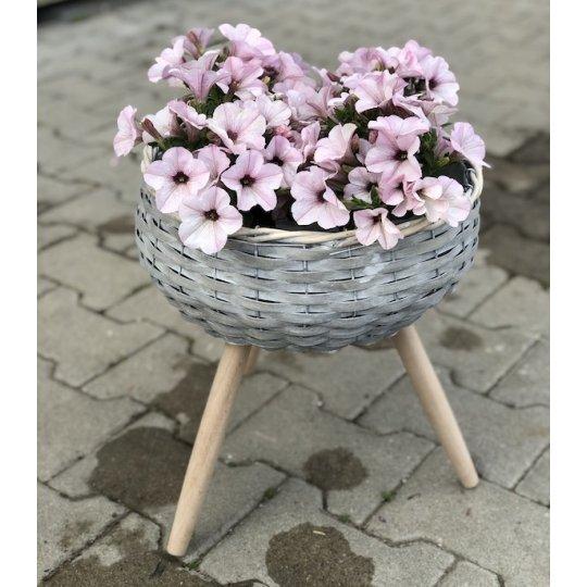 Košík trojnožka, sivý