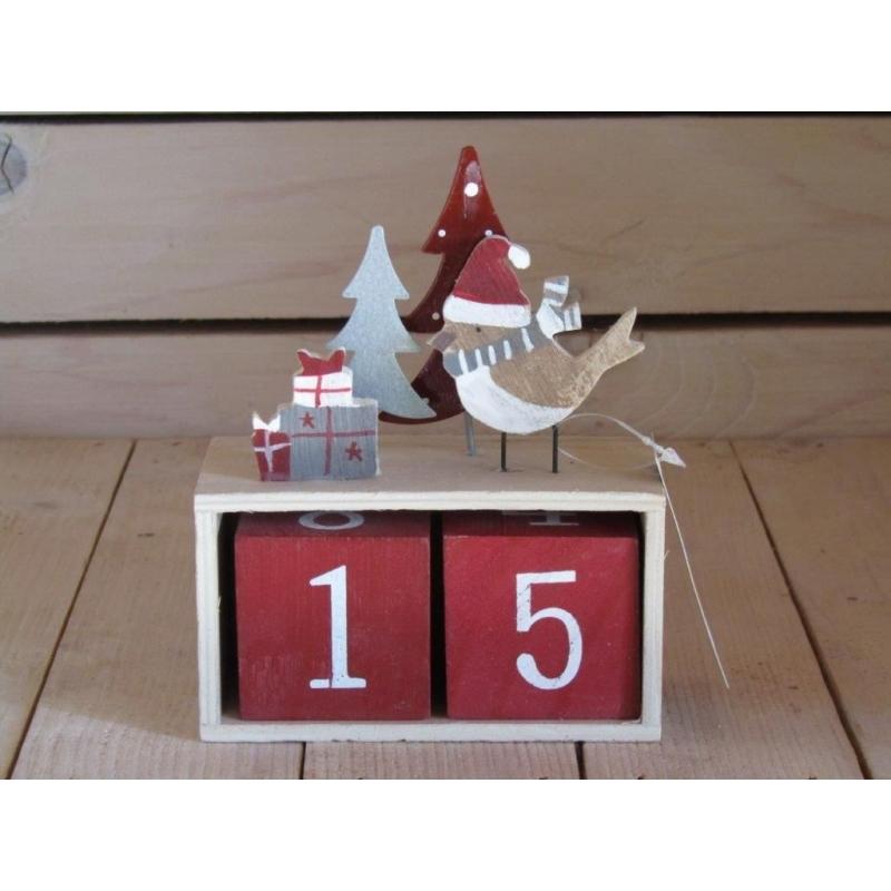 Drevený kalendárik 15cm